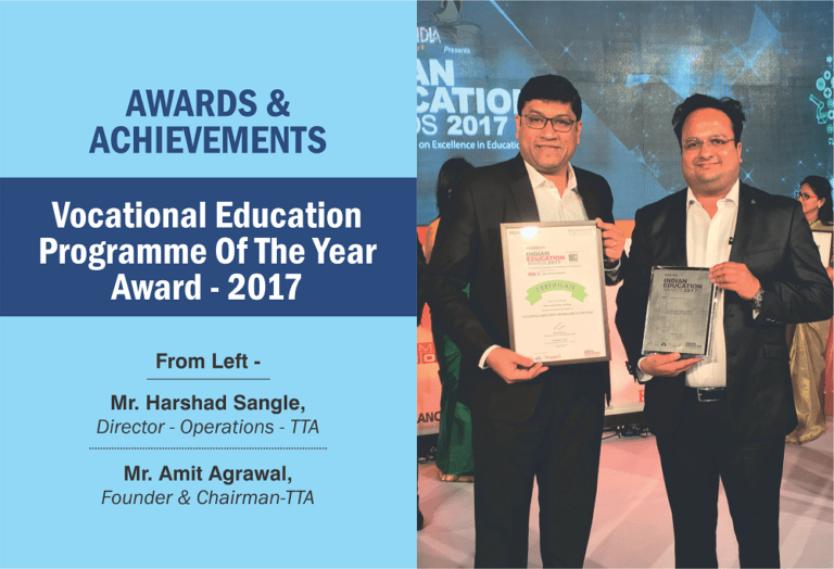 Vocation education programme of the year award 2017
