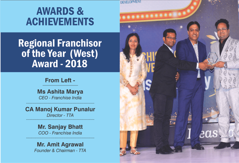 Regional franchisor of the year awad 2018